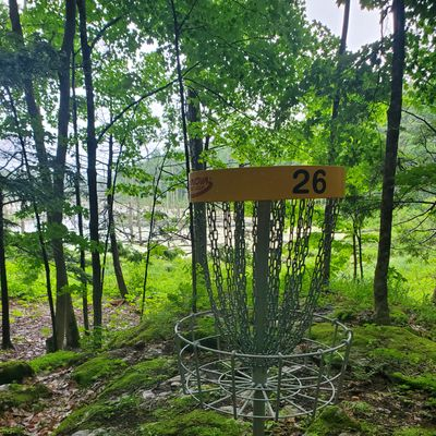Hole 26, overlooking a swamp.