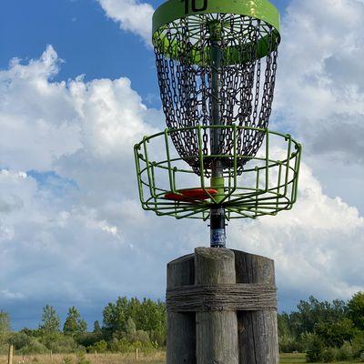 Hole 10 elevated basket