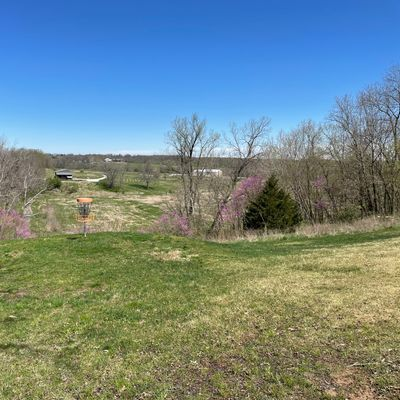 Beautiful spring day on the approach to hole 17.