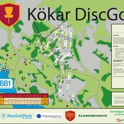 Kökar DiscGolfPark - 12 holes, BB1-rating