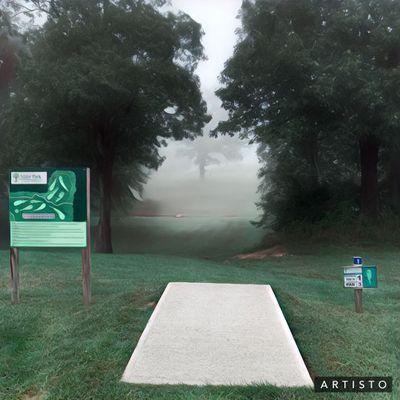Hole 1 Little Mahr on a cool foggy morning last fall...