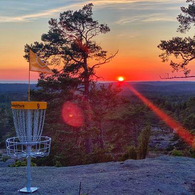 Hole 9 at sunset
