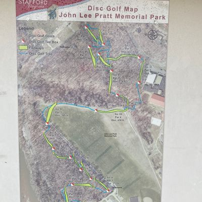 Course map. Only way to know where holes go without walking each one.