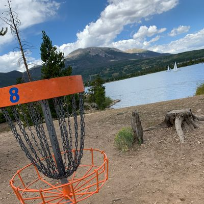 View of hole 8 near the lake.