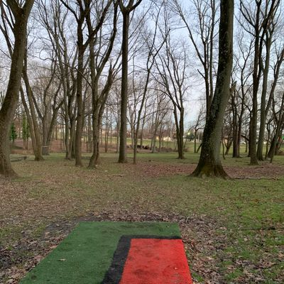 Hole 18 from short tee pad