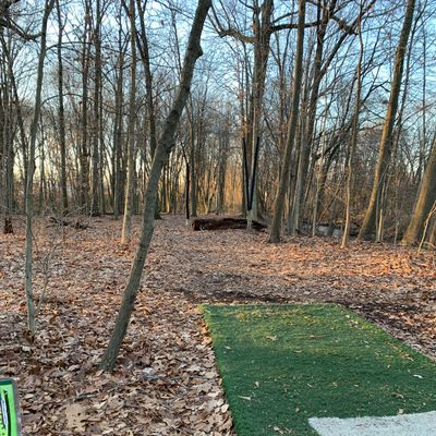 Hole 8 from tee pad