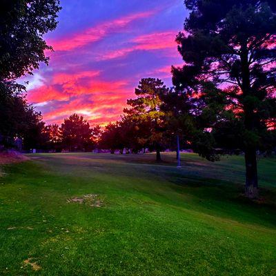 Sunset on hole 2