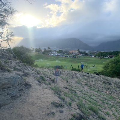 Hole 12 view of Iao Valley and West Maui Mountains