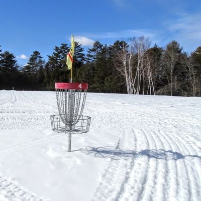 Hole 4 of the Hawk ready for winter disc golf.