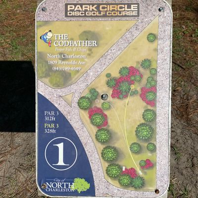 1st hole sign