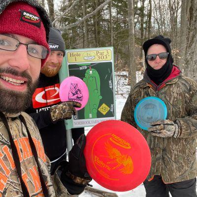 Disc golf junkies! 9 degrees at Norbrook last Sunday januaru 31st.