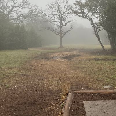 Hole 5 in the fog