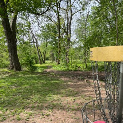 View from the 18th back towards the tee.
